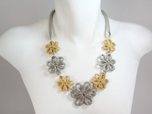 Multi Flower Mesh Necklace - Erica Zap Designs