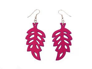 Fern Pattern Leather Earrings | Erica Zap Designs