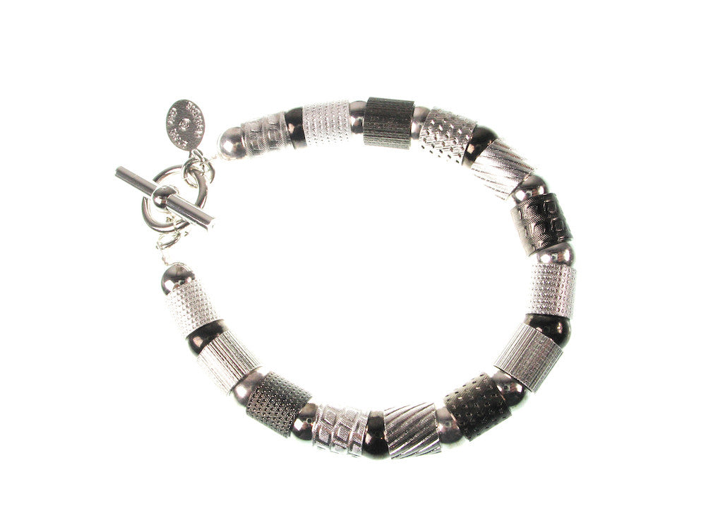 Textured Tube and Ball Bracelet | Erica Zap Designs