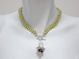 Pearl Necklace with Bud Pendant | Erica Zap Designs