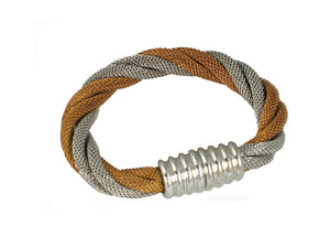 Mesh Bracelet Thick Twist with Magnetic Clasp - Erica Zap Designs
