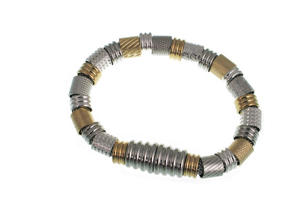 Mesh Bracelet with Textured Tubes and Magnetic Clasp - Erica Zap Designs