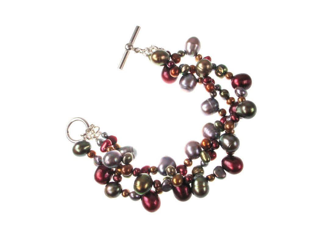 3-Strand Mixed Pearl Bracelet | Erica Zap Designs