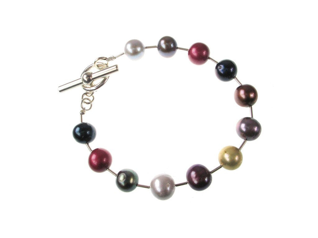 Potato Pearl & Sterling Tube Bracelet - Erica Zap Designs