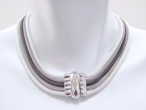 5-Strand Mesh Necklace with Smooth Magnetic Clasp - Erica Zap Designs
