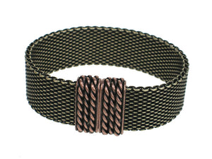 Flat Mesh Bracelet with Magnetic Clasp - Erica Zap Designs