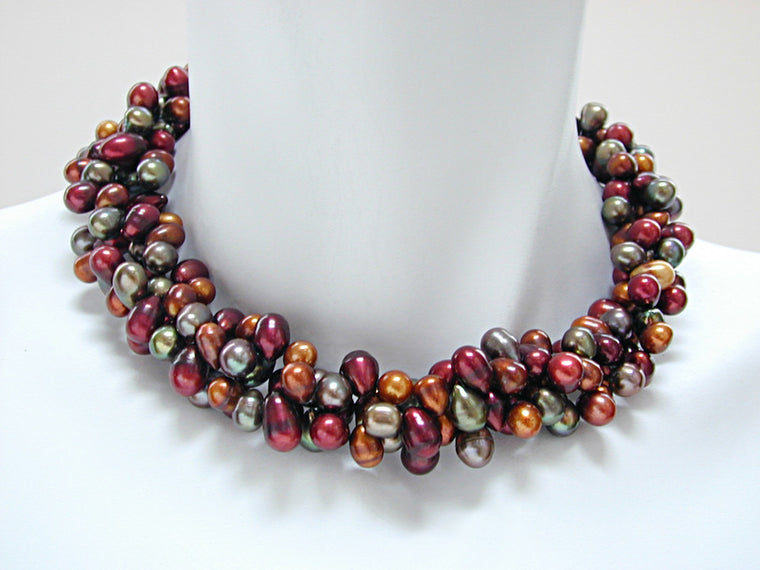 3-Strand Large Pearl Necklace - Erica Zap Designs