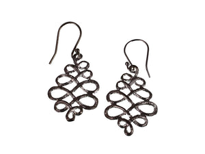 Scroll Pattern Sterling Earrings - Erica Zap Designs