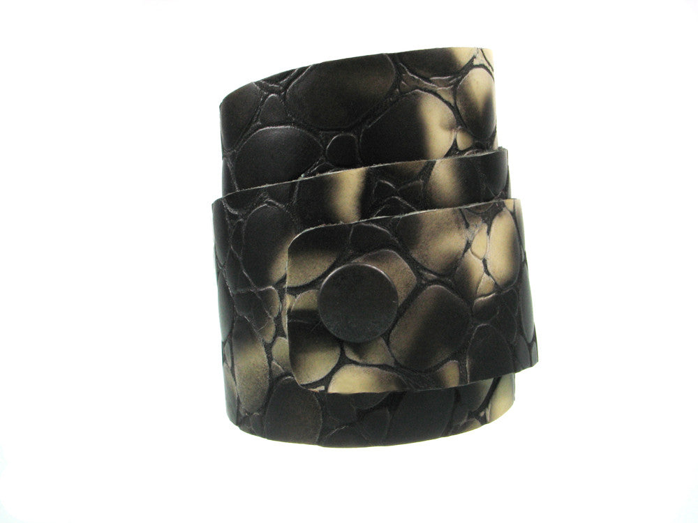 Textured Triple Wrap Leather Bracelet | Erica Zap Designs