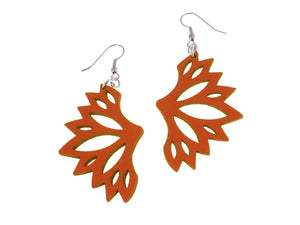 Fan Pattern Leather Earrings | Erica Zap Designs