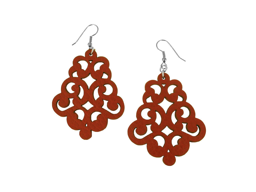 Vintage Lace Leather Earrings | Erica Zap Designs