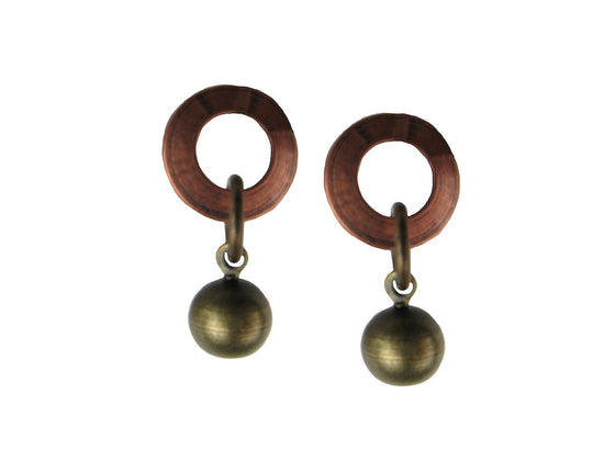 Circle & Ball Earrings - Erica Zap Designs
