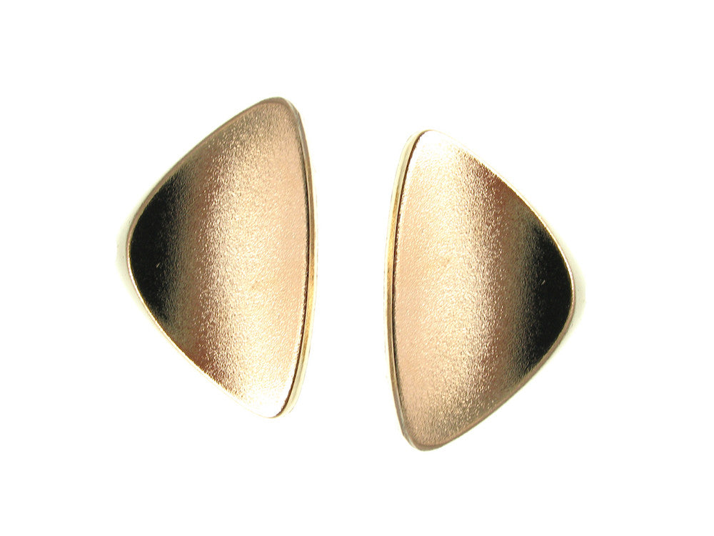 Gold Curved Triangle Earrings | Erica Zap Designs