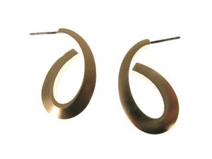 Oval Loop Metal Earrings | Erica Zap Designs