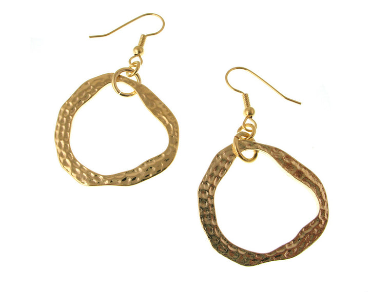 Hammered Circle Earrings - Erica Zap Designs