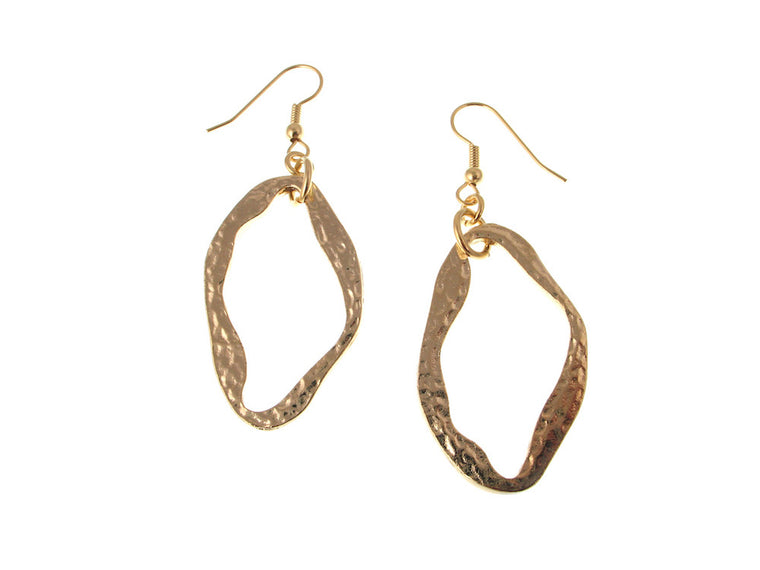 Hammered Oval Earrings - Erica Zap Designs