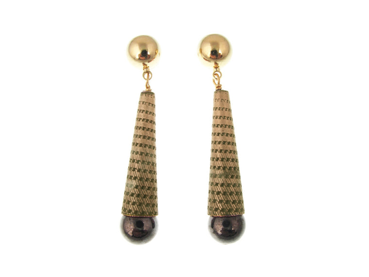 Textured Cone Earrings