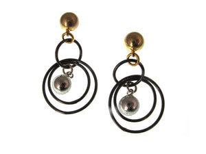 Triple Hoop Ball Earrings | Erica Zap Designs