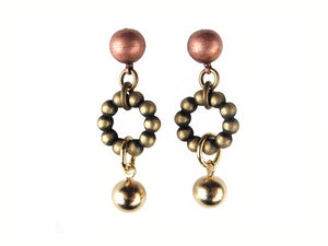 Ball & Bead Circle Drop Earrings | Erica Zap Designs