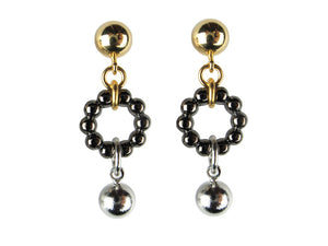 Ball & Bead Circle Drop Earrings - Erica Zap Designs