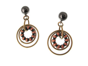 Rings & Bead Circle Drop Earring | Erica Zap Designs