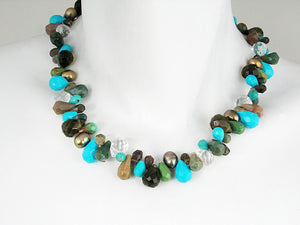 Briolette Stone Necklace | Turquoise Mix | Erica Zap Designs