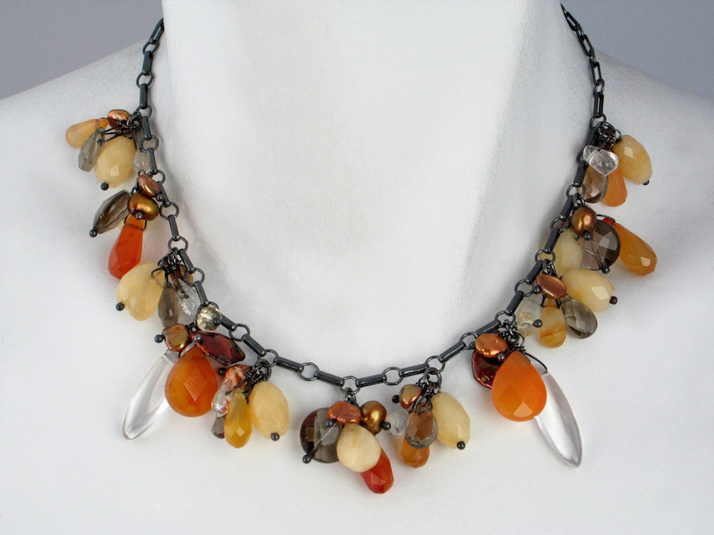 Stone Cluster Necklace - Erica Zap Designs