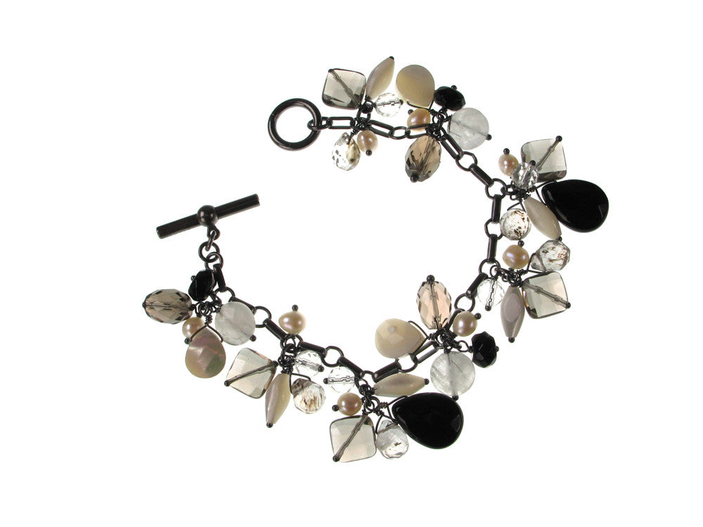 Faceted Stone Cluster Bracelet - Erica Zap Designs