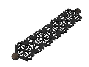 Oak Leaf Pattern Leather Bracelet - Erica Zap Designs