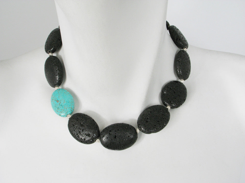 Lava Rock Necklace - Erica Zap Designs