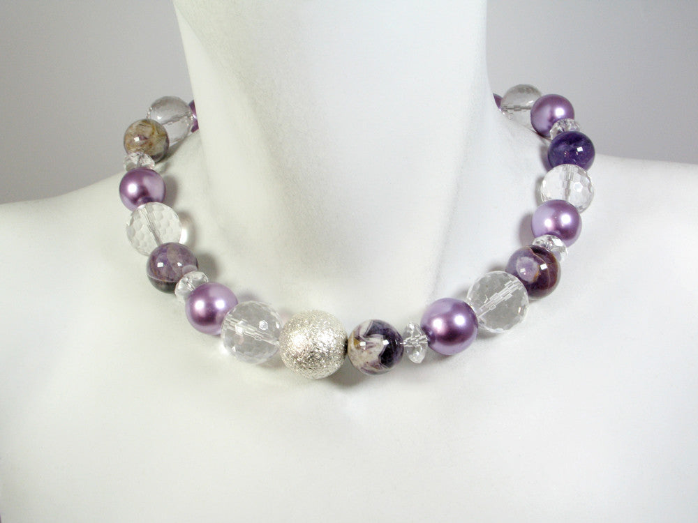 Stone Ball Necklace | Amethyst Mix | Erica Zap Designs