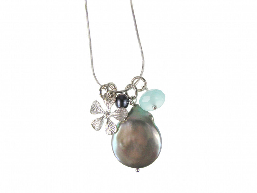 Coin Pearl & Charms Pendant Necklace | Erica Zap Designs