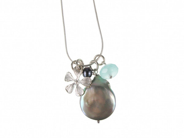 Coin Pearl Charms Pendant - Erica Zap Designs