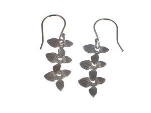 Triple Sterling Leaf Earrings | Erica Zap Designs