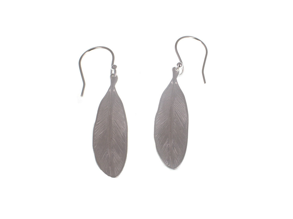 Sterling Feather Earrings - Erica Zap Designs