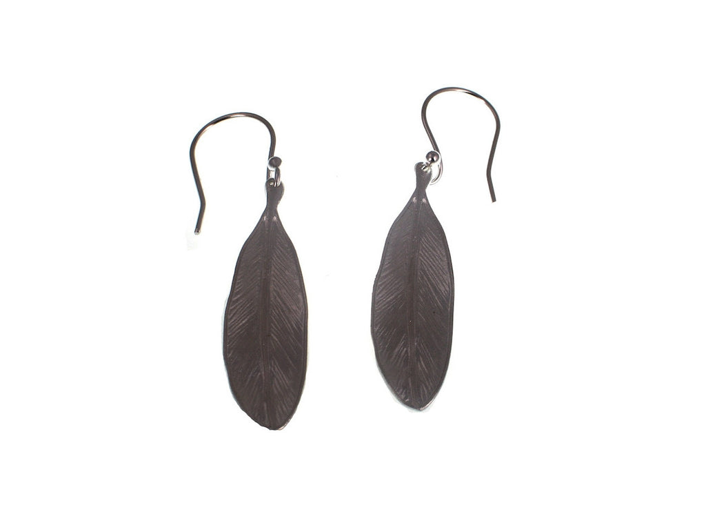Sterling Feather Earrings | Erica Zap Designs