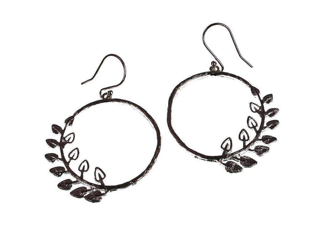 Sterling Hoop Branch Earrings | Erica Zap Designs