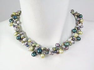 3-Strand Mixed Pearl Necklace | Erica Zap Designs