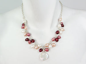Pearl & Sterling Chain Necklace | Erica Zap Designs