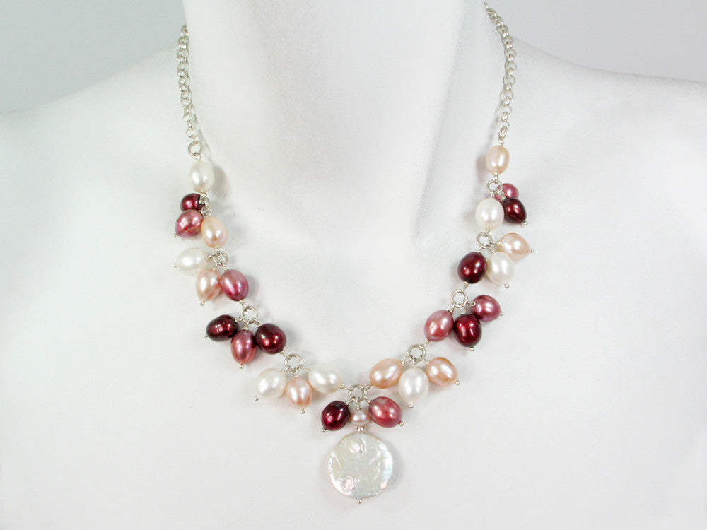 Pearl & Sterling Chain Necklace - Erica Zap Designs