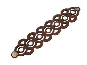Laser Cut Leather Bracelet | Geometric Circle Pattern | Erica Zap Designs