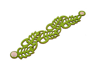 Laser Cut Leather Bracelet | Fern Pattern | Erica Zap Designs