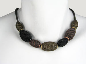 Large Oval Mesh Bead Necklace | Erica Zap Designs