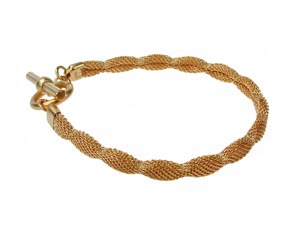 Thin Pinched Mesh Bracelet - Erica Zap Designs