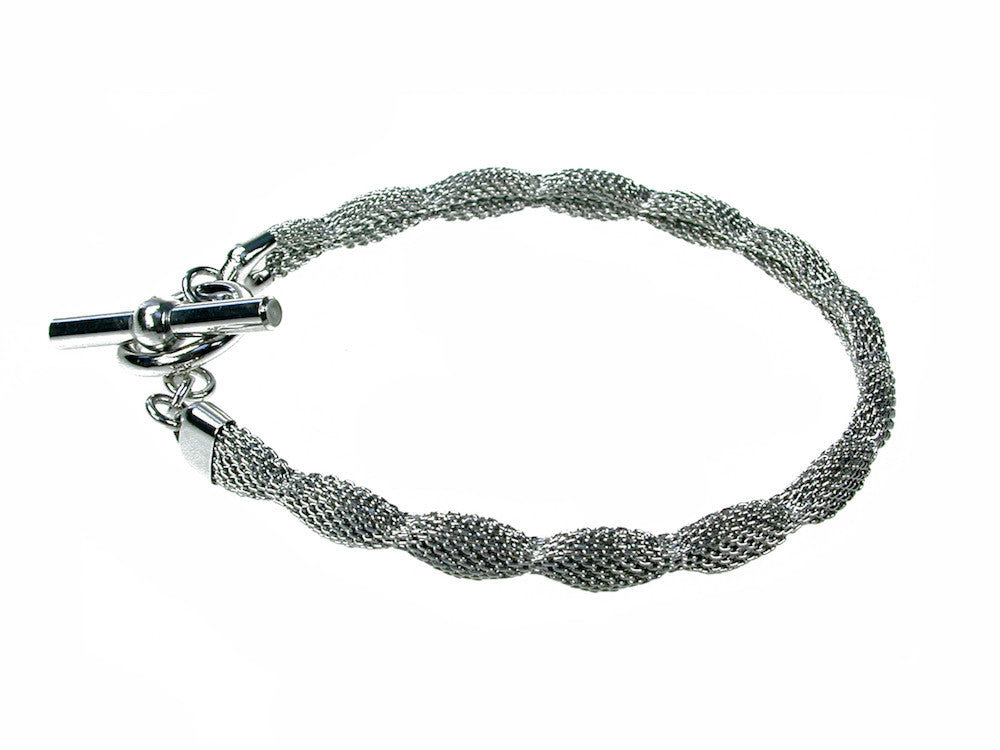 Thin Pinched Mesh Bracelet | Erica Zap Designs