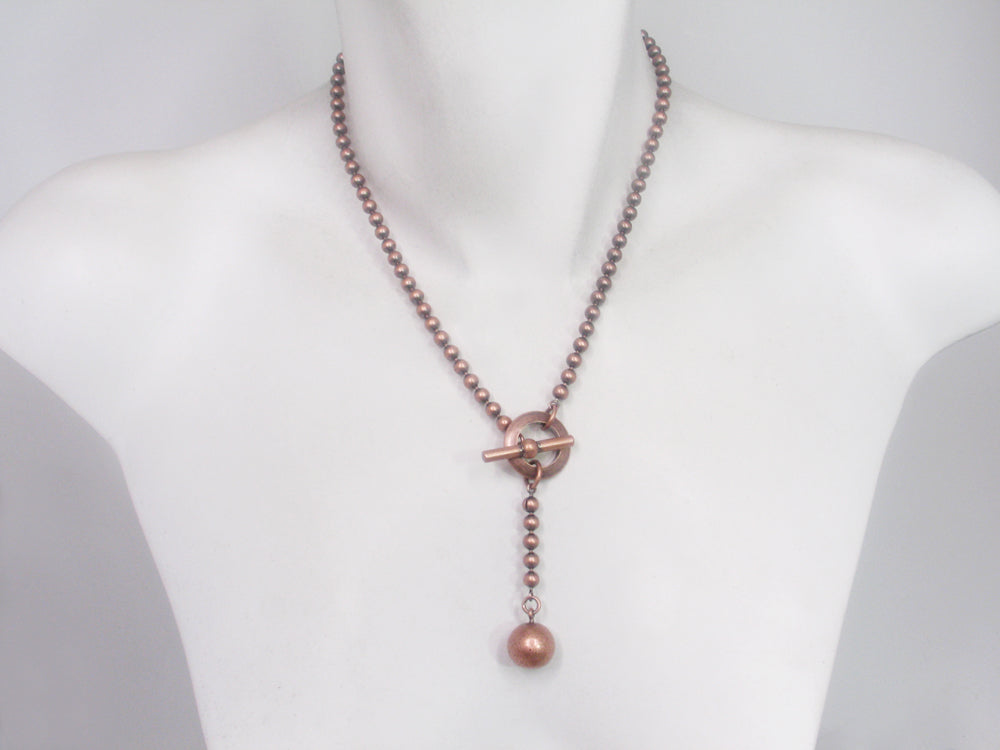 Y Bead Chain Necklace