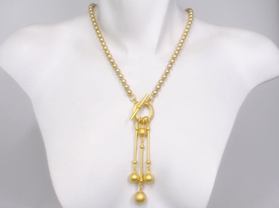 Ball Drop Bead Chain Necklace