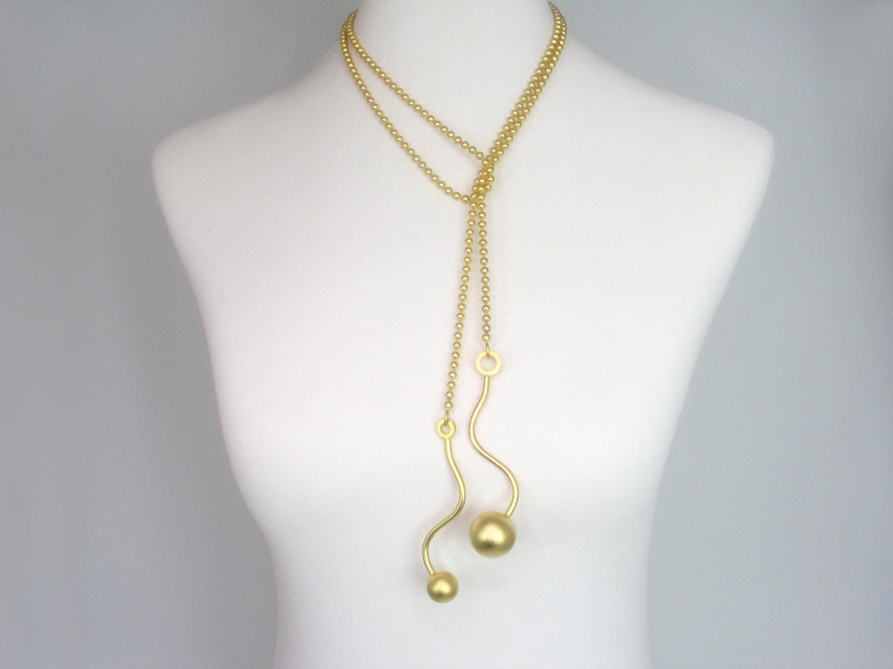 Geometric Bead Chain Lariat