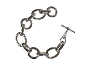 Oval Linked Metal Bracelet | Erica Zap Designs