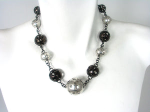Perforated Ball Necklace